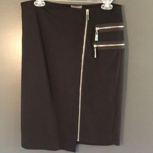Vince Camuto Skirts - VInce Camuto - Black Silver Zip Skirt